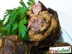 Carciofi Ripieni di Salsiccia e Pancetta
