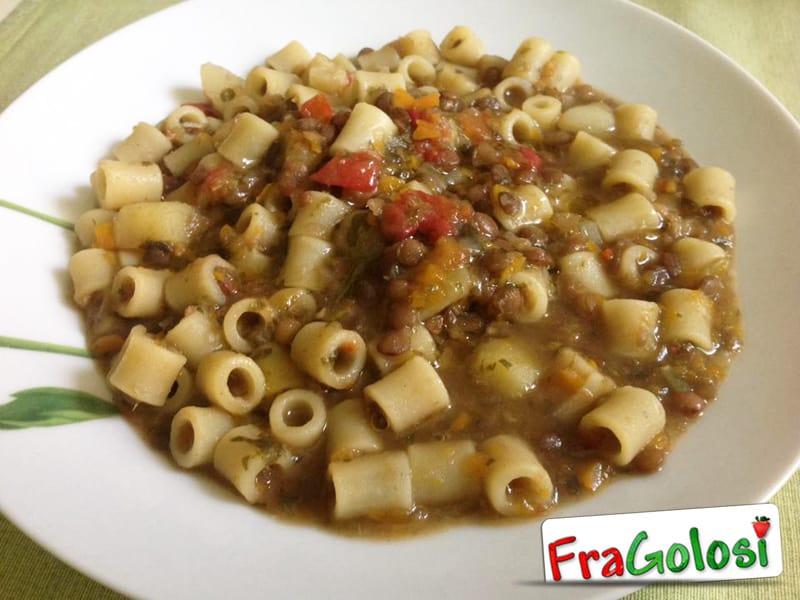 pasta e lenticchie - ricetta di fragolosi - Cucinare Pasta E Lenticchie