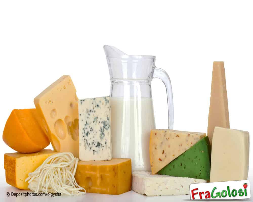 Tabella Calorie Latte e Derivati