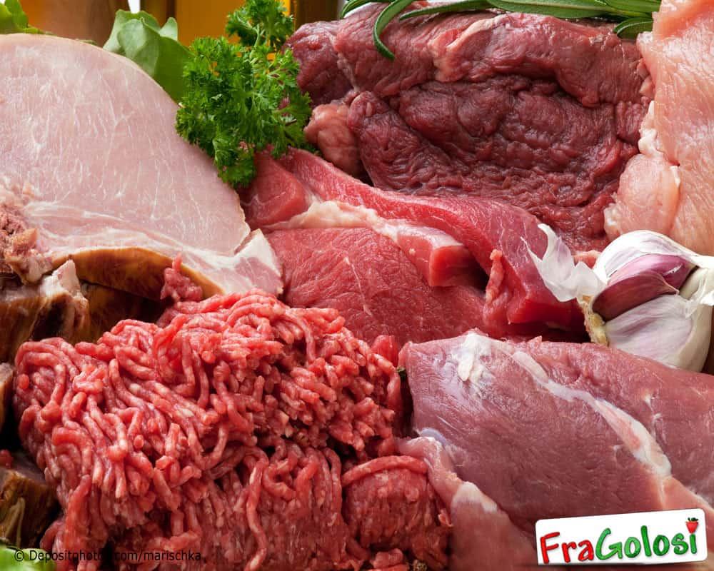 Tabella calorie carne
