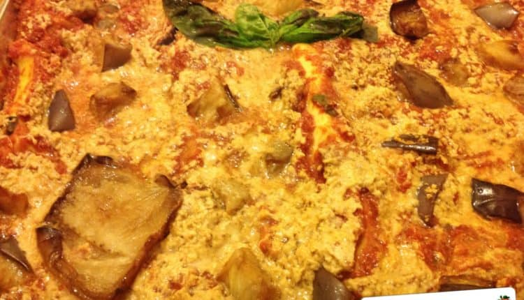 Pasticcio di lasagne melanzane e scamorza