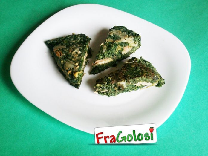 Frittata filante di spinaci