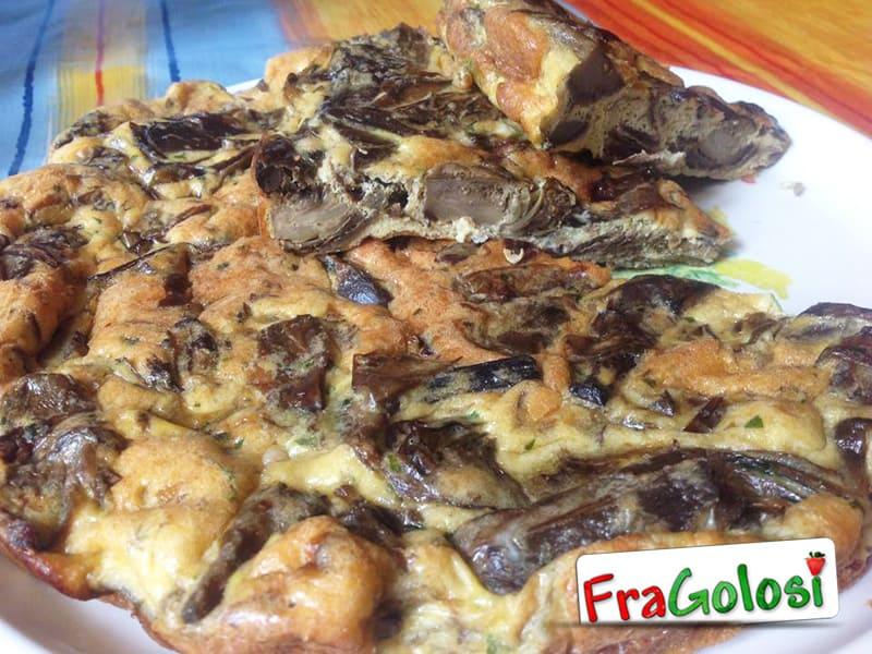 Frittata con champignon e carciofi