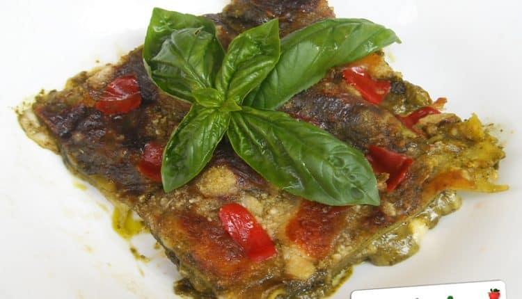 Lasagne ai pomodorini e pesto