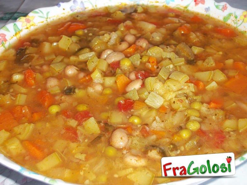 minestrone con la carne - ricetta di fragolosi - Come Si Cucina Il Minestrone