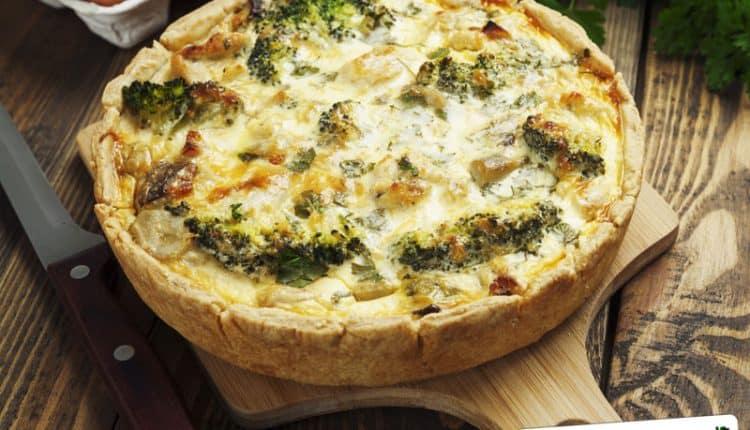 Torta salata con broccoletti