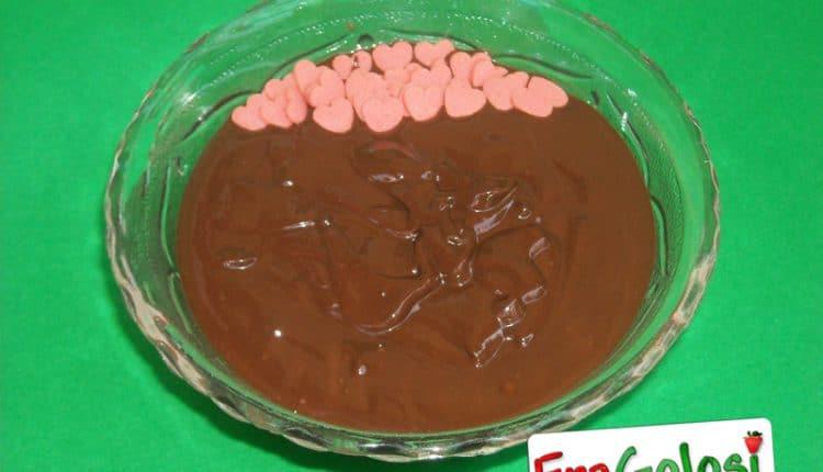 Glassa al cioccolato super lucida
