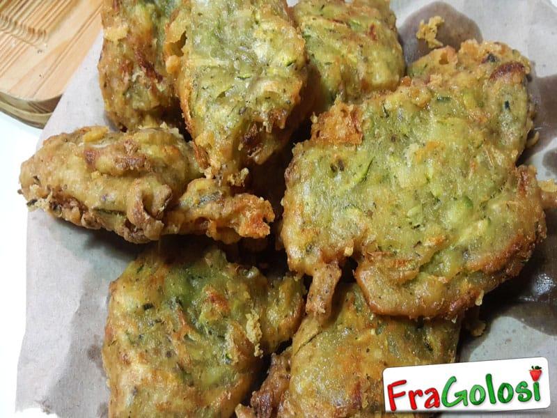Frittelline di zucchine