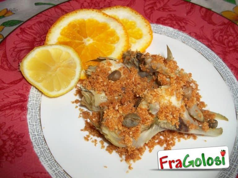Carciofi con la mollica ad agrodolce