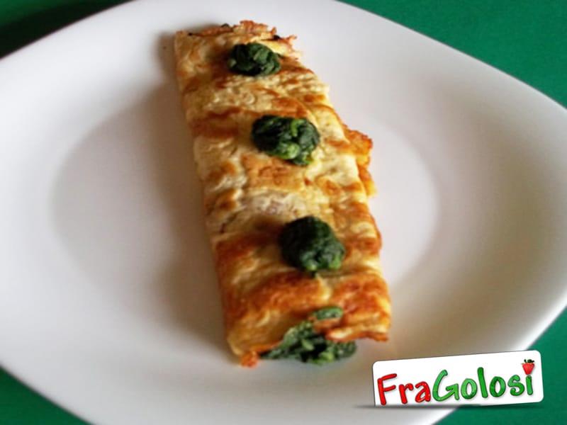 Omelette arrotolata di spinaci