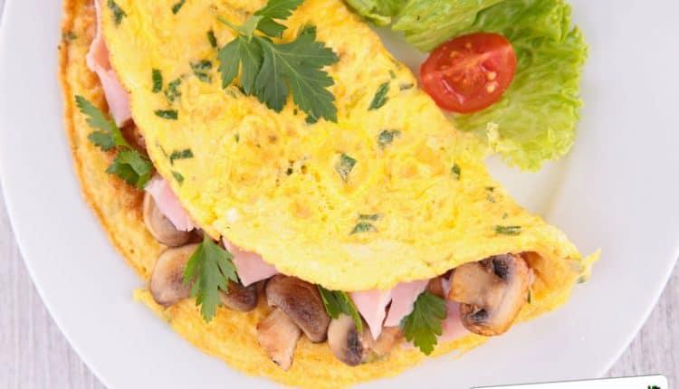 Omelette ripiena di funghi