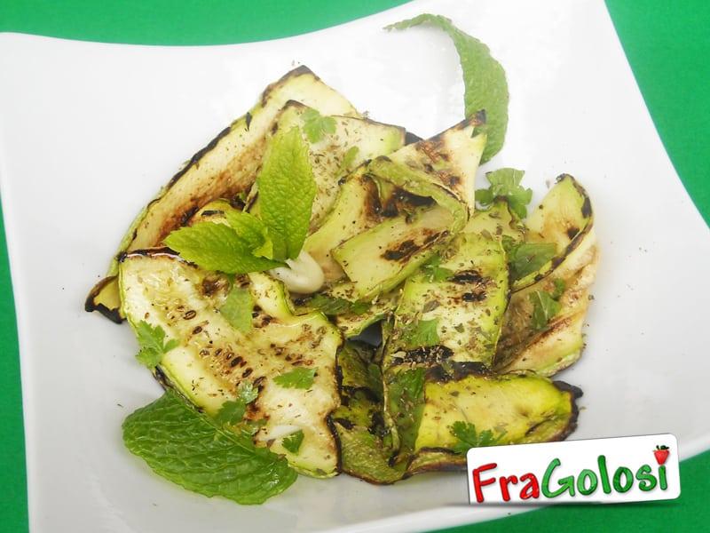 Zucchine grigliate al sapore di menta Light
