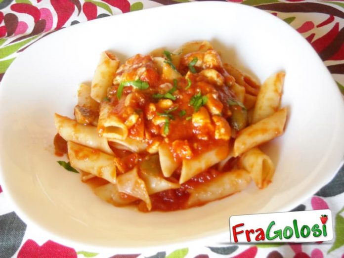 Pasta con pesce spada alla siciliana