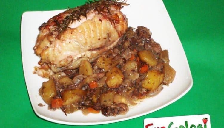 Rollè di pollo con verdure