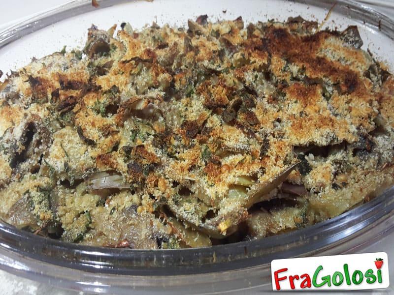 Funghi e cuori di CarciofI al forno