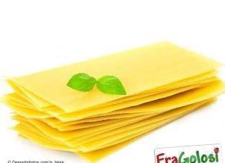 Lasagne punteggiate al basilico