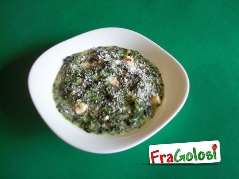 Zuppa di spinaci light