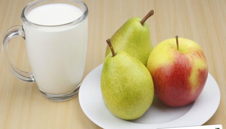 Frullato di pera e di mela