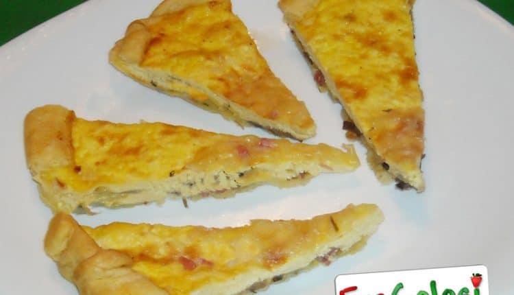 Torta salata con pancetta e stracchino