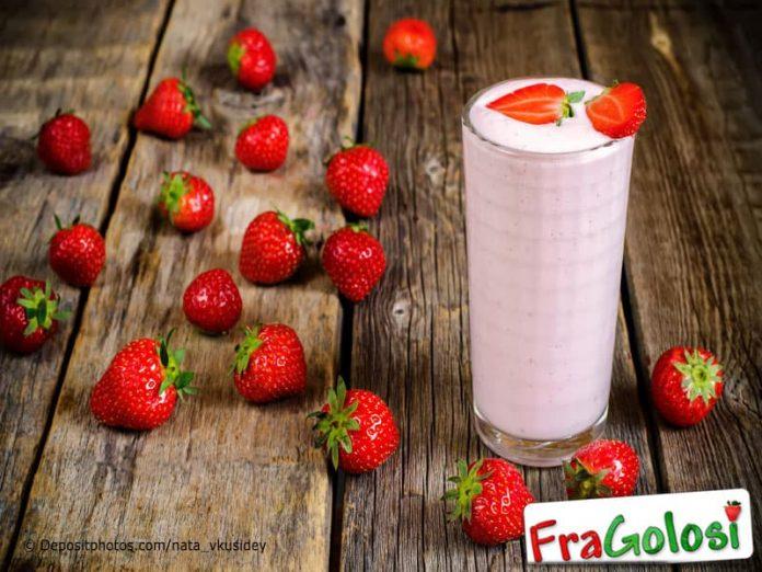 Frullato di latte e fragole