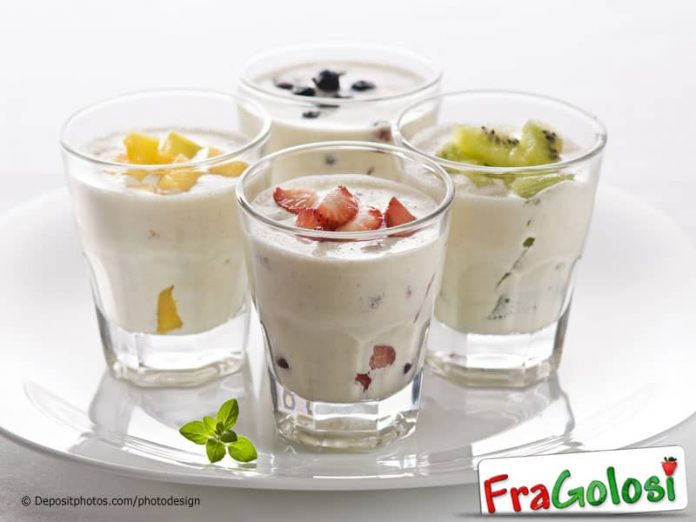 Frullato di yogurt e frutta