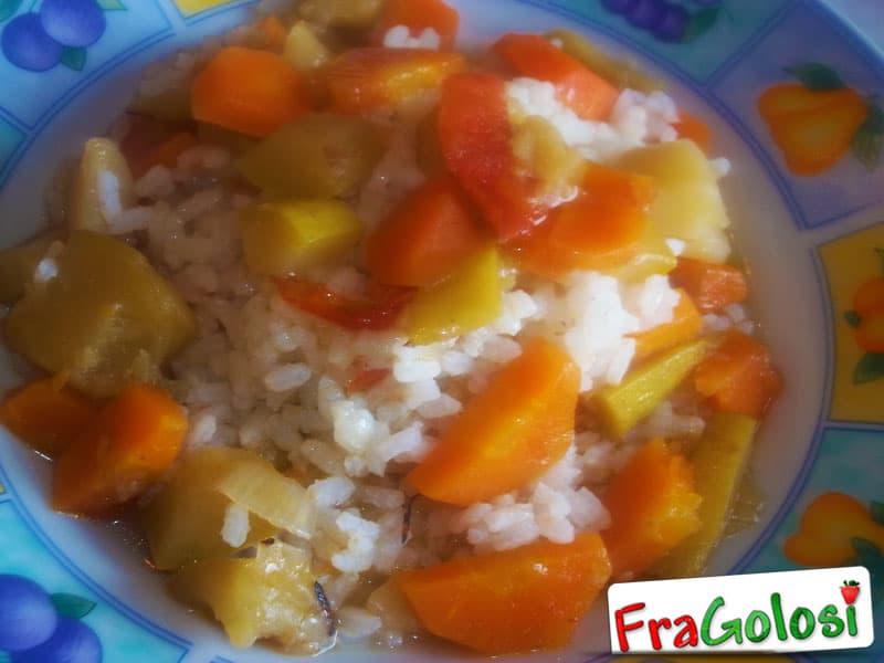 Minestra di riso con zucchine e carote light