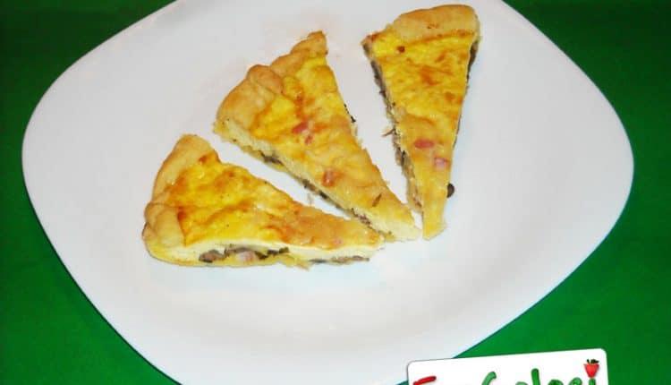 Crostata salata con prosciutto ricotta e mascarpone