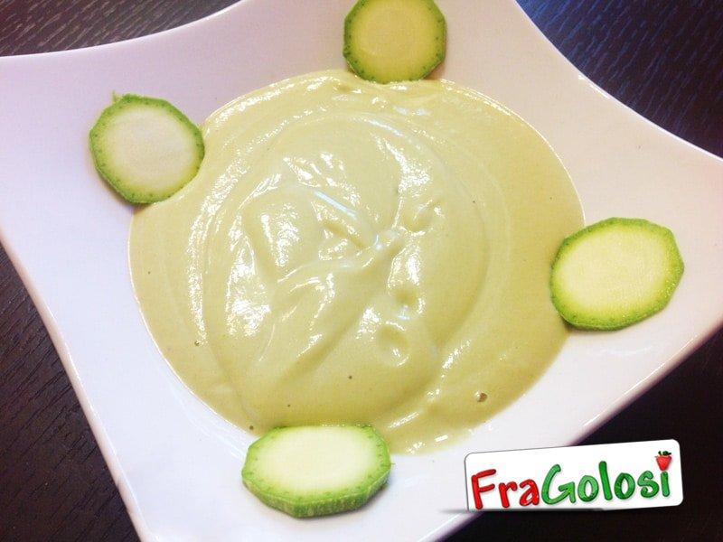 Crema di zucchine ricotta e zafferano