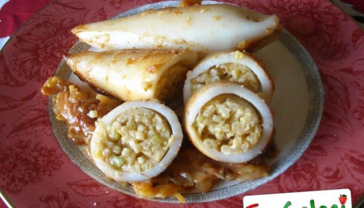 Calamari ripieni di pasta