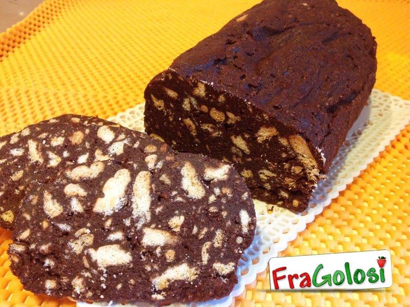 Salame al cioccolato con cacao