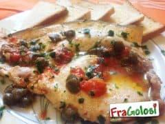 Pesce Spada in Guazzetto con Crostini