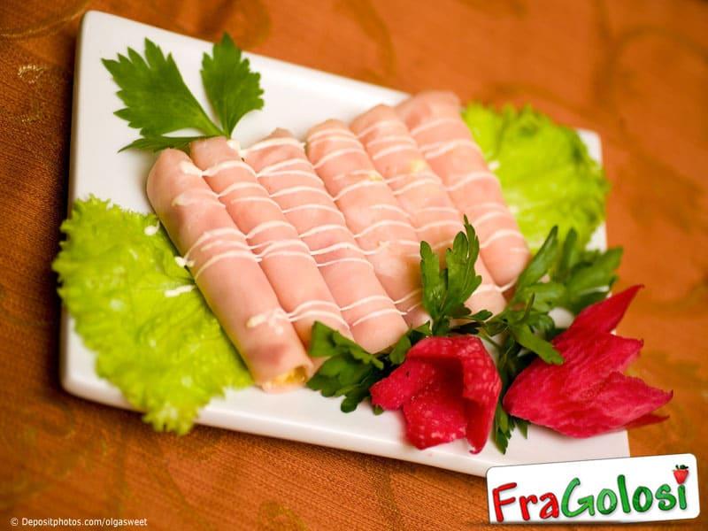 Involtini di prosciutto alle verdure