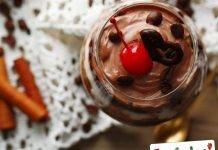 Coppa di cioccolato aromatizzato al caffe Light