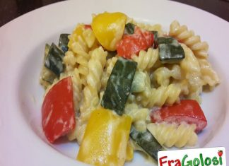 Fusilli con Besciamella, Peperoni e Zucchine