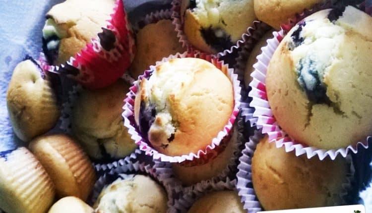 Muffins ai mirtilli freschi