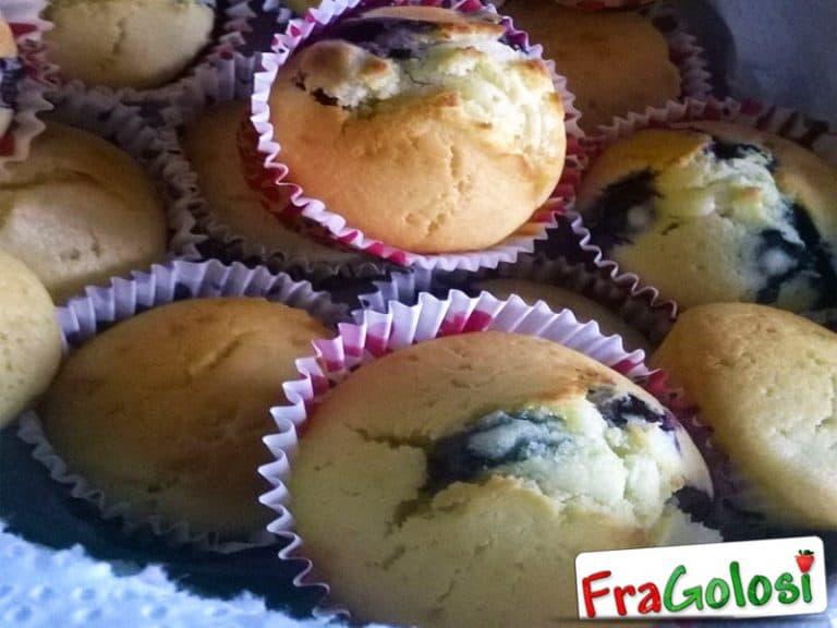 Muffins ai mirtilli secchi