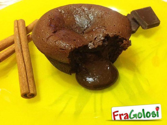 Tortino al doppio cioccolato con cuore morbido