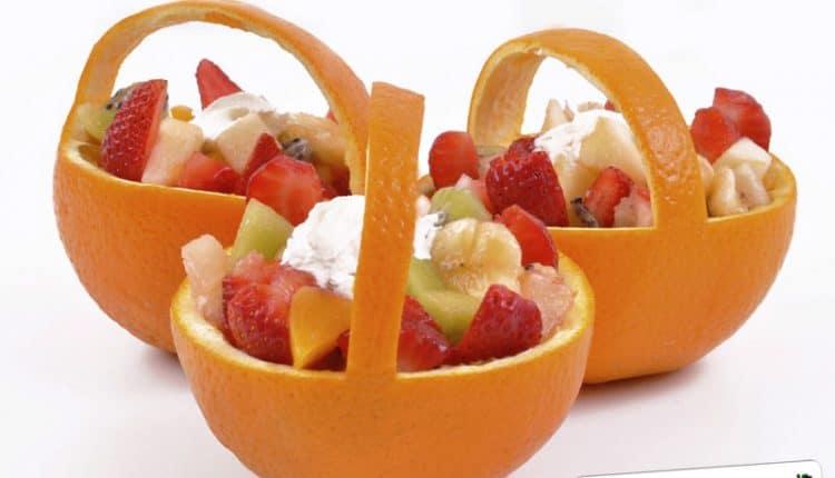 Cestini di arance ripiene