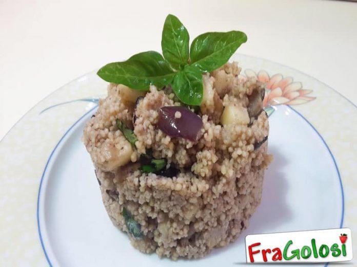 Cous Cous con Melanzane e Crema di Olive e Basilico