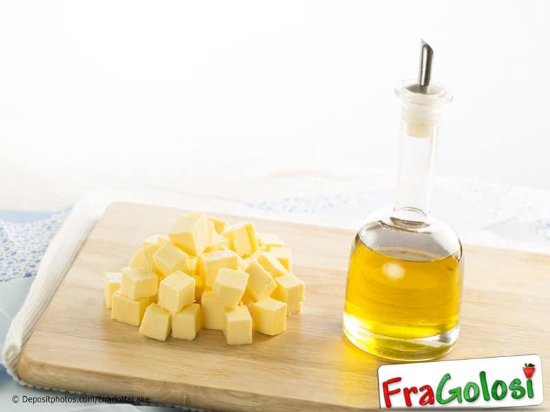 Qual è la proporzione tra burro e olio