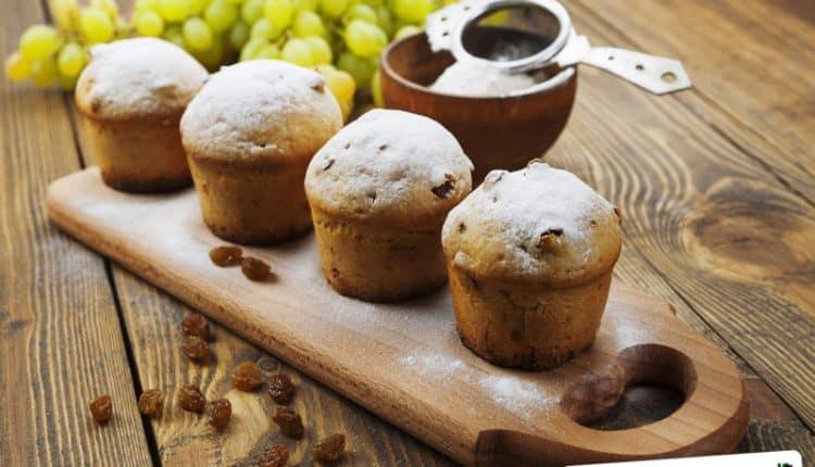 Muffins all'uvetta