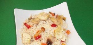 Insalata di riso vegetariana Light