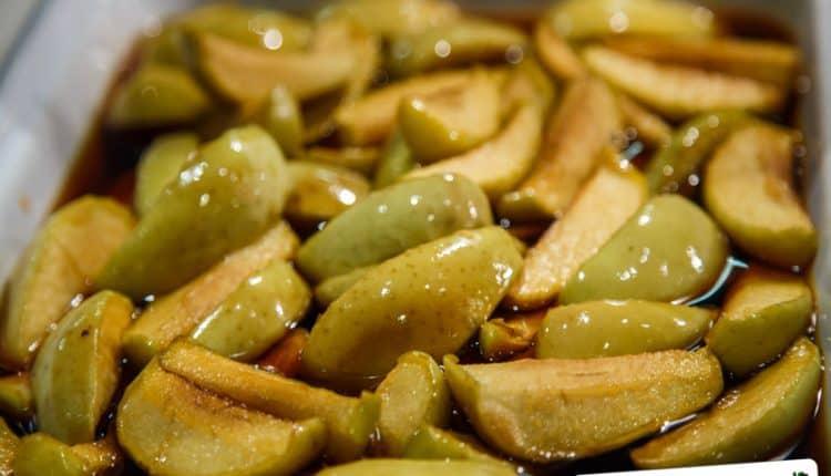 Dessert di mele al limone