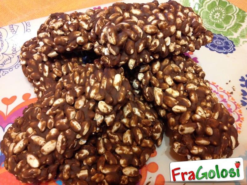 Tavolette di riso soffiato al cioccolato