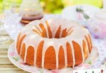 Torta all'arancia glassata