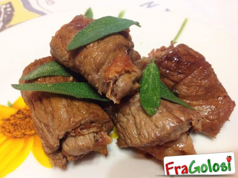 Involtini di vitello alla salvia