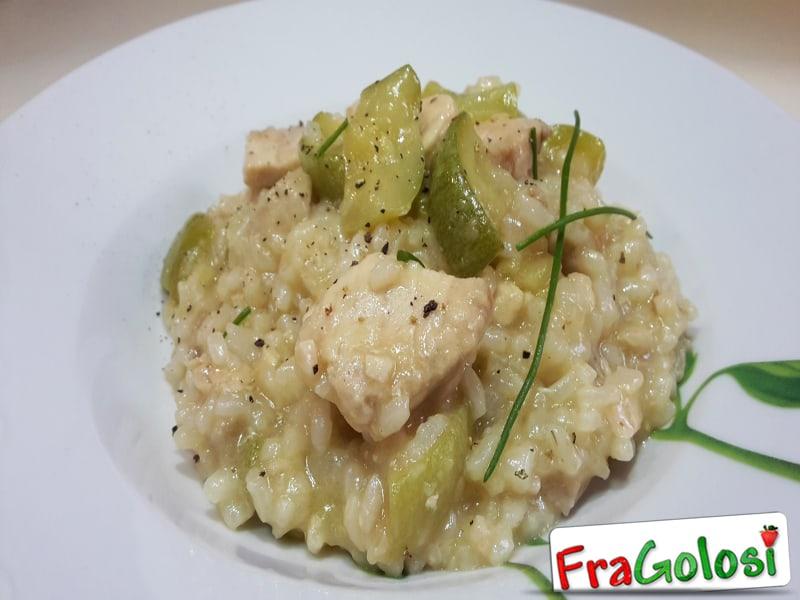 Risotto con Zucchine e Pesce Spada