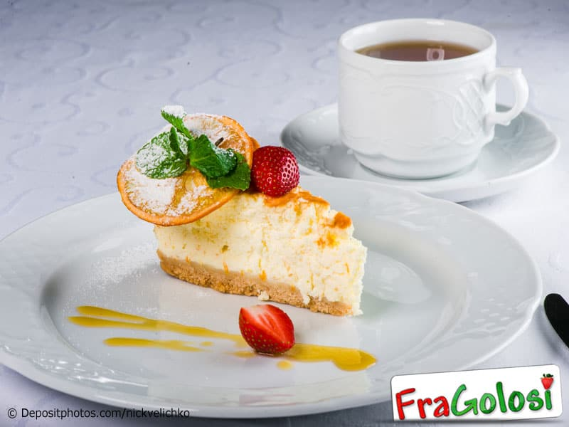 Cheesecake con glassa all'arancia