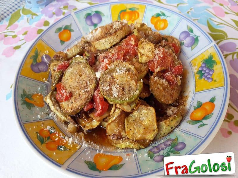 Zucchine fritte al pomodoro