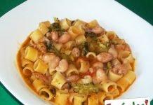 Minestra di pasta con fagioli e broccoli